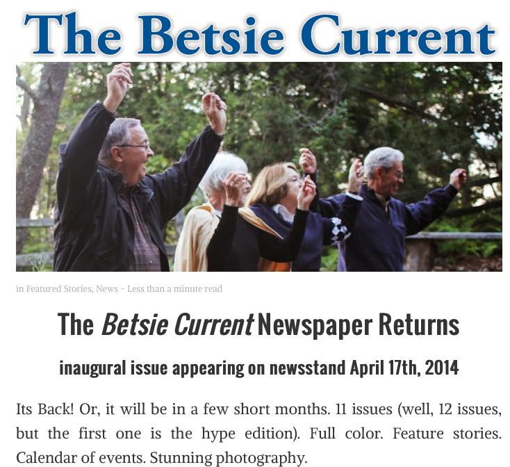 Support the Betsie Current's relaunch through Kickstarter campaign