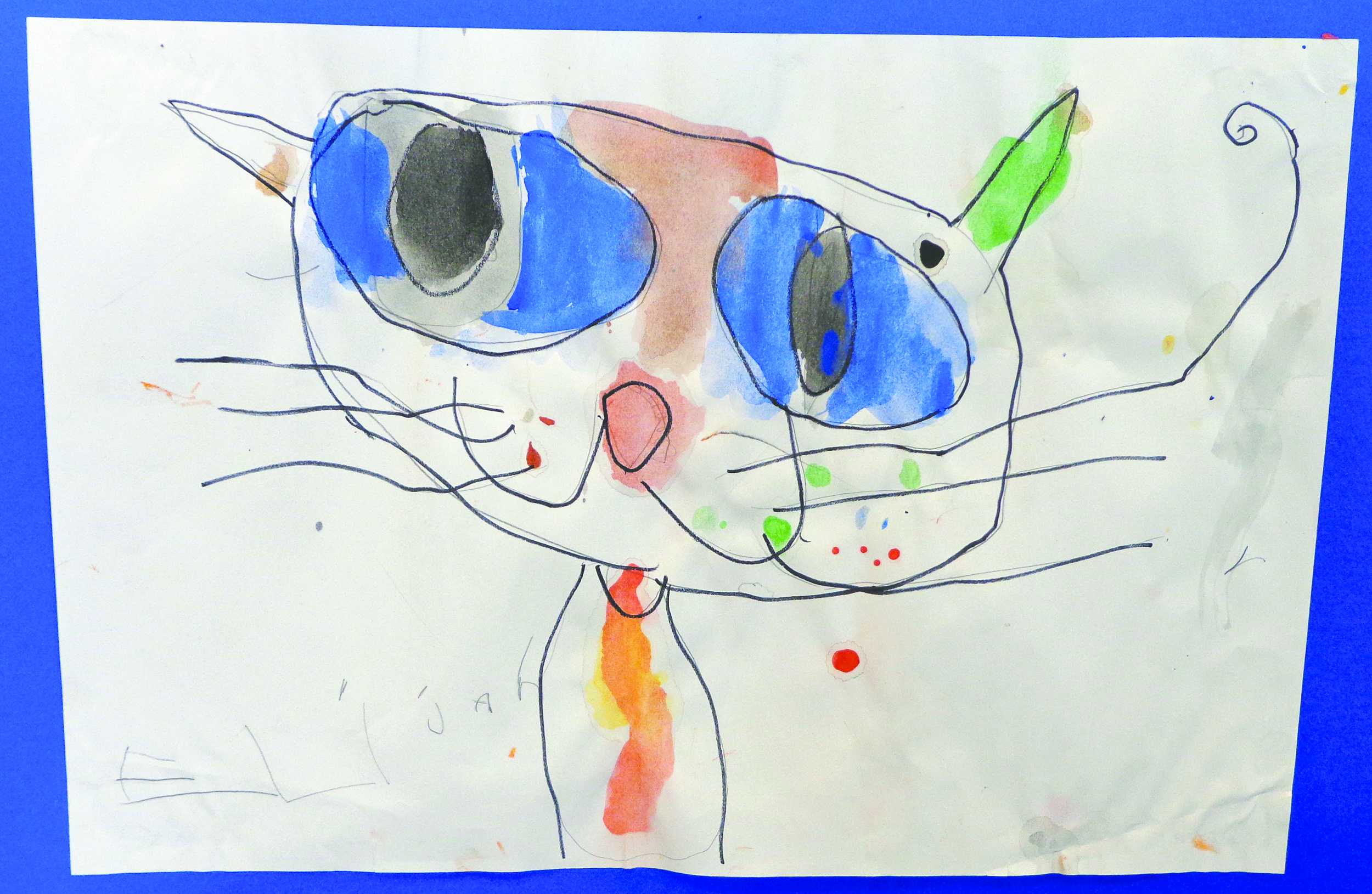 This incredible cat drawing by Elijah Hoxley was featured at the 2013 exhibit at the Oliver Art Center. See what's on display this year from April 18-May 16. Photo by Aubrey Ann Parker.