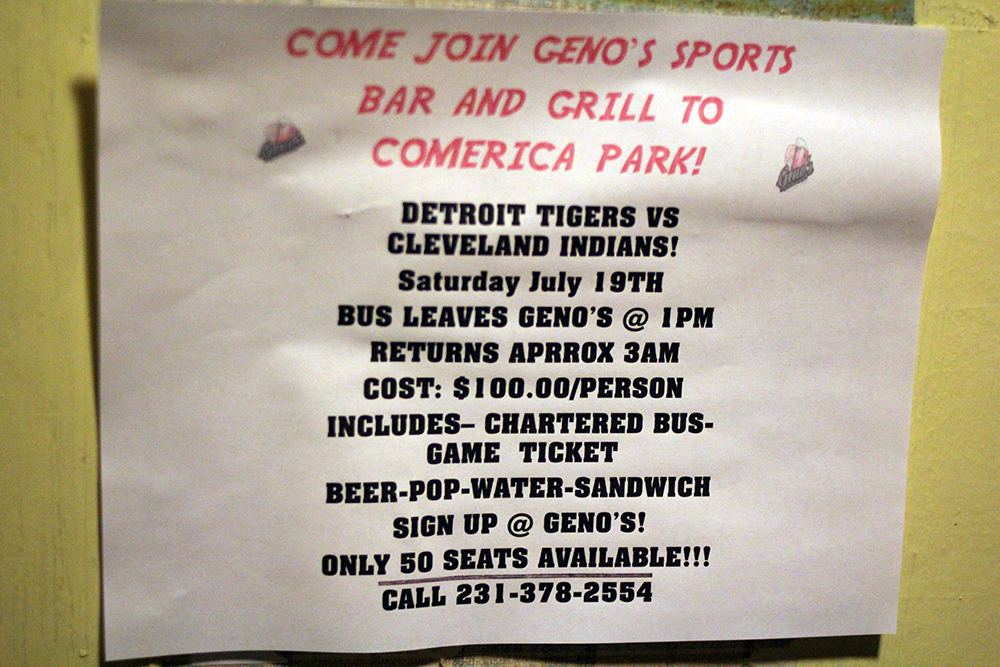 Geno charters a bus each year and takes Detroit Tiger fans to a game. This year the bus heads down for the July 19th game vs the Cleveland Indians. Photo by Aubrey Ann Parker.