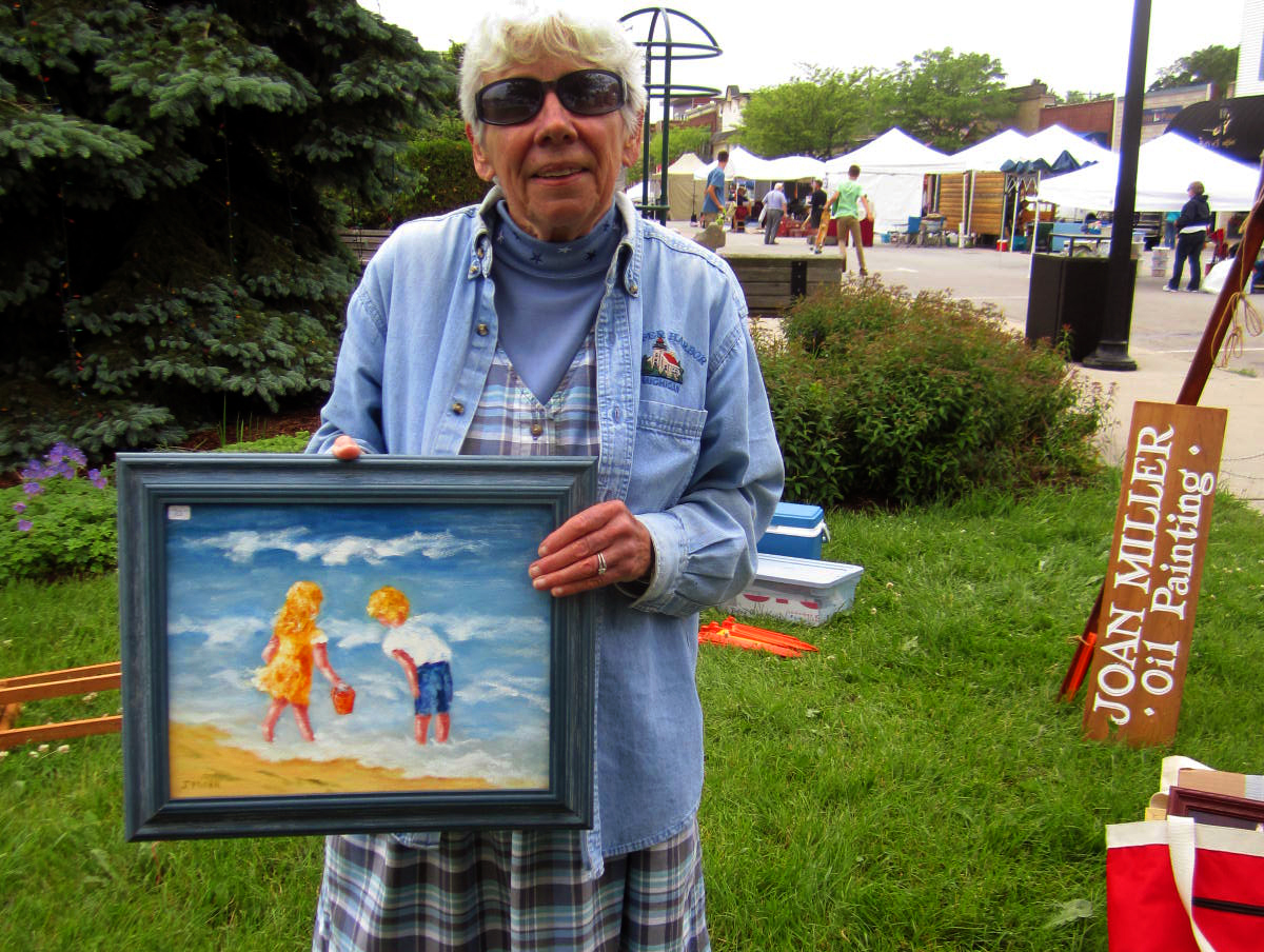 Humans of Benzie County Joan Miller Art Artist Painter Frankfort Suyeon Yang