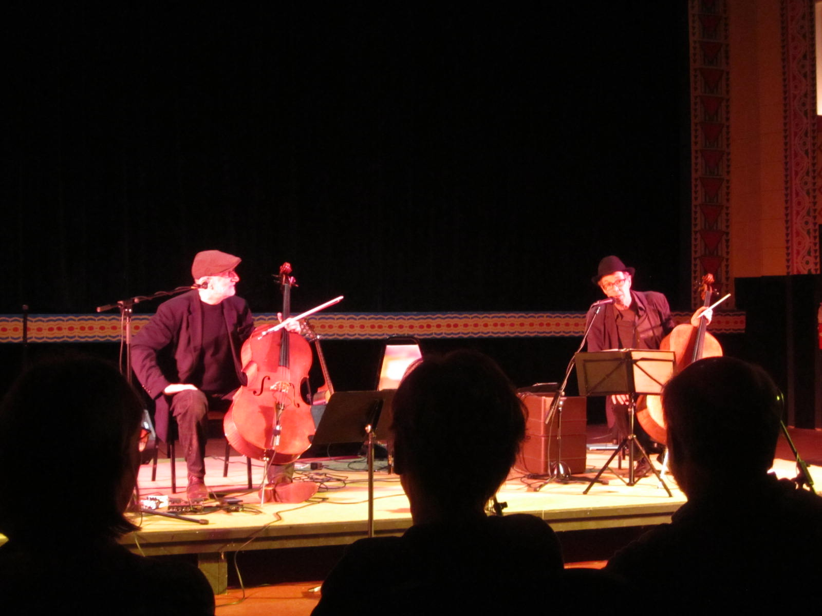 Two Cello, Two Friends, Two Nights cello concert garden theater jazz tango