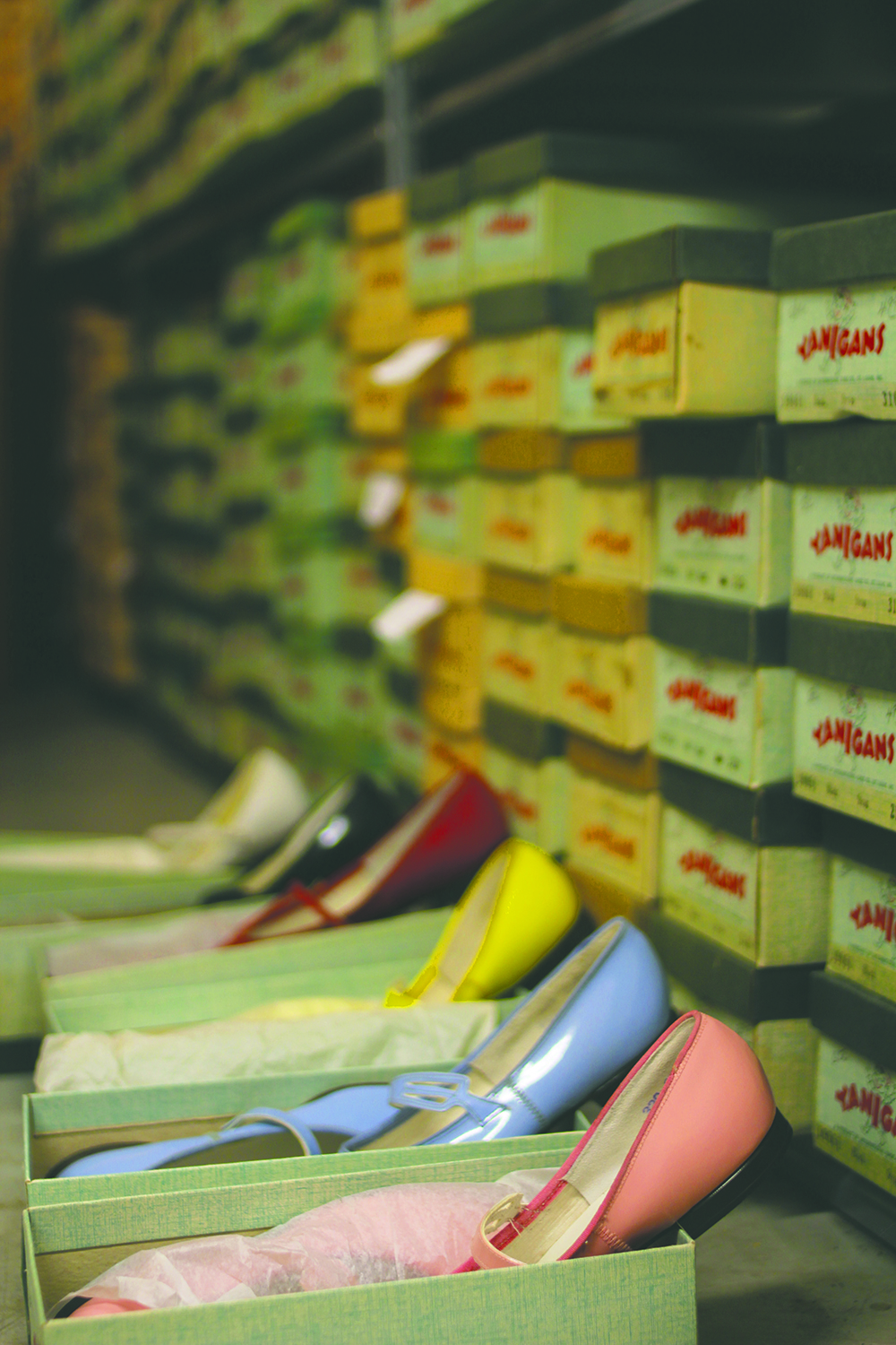 An array of vintage shoes that are in mint condition. Most of the 5,000 pairs have never even been tried on. Photo by Aubrey Ann Parker.