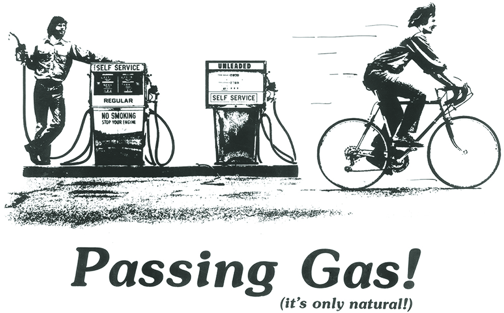 Jack Gyr is well known for Passing Gas, a unique creation from a deeply creative process. Graphic courtesy of Jack Gyr.