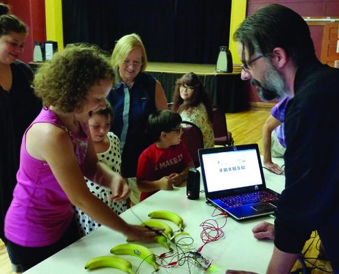 "The Benzonia Public Library is just wrapping up its hugely popular ""Building Up S.T.E.A.M. Summer Reading Program, which allowed kids of all ages to play with gizmos like Makey Makey. Photo by Michele Leines."