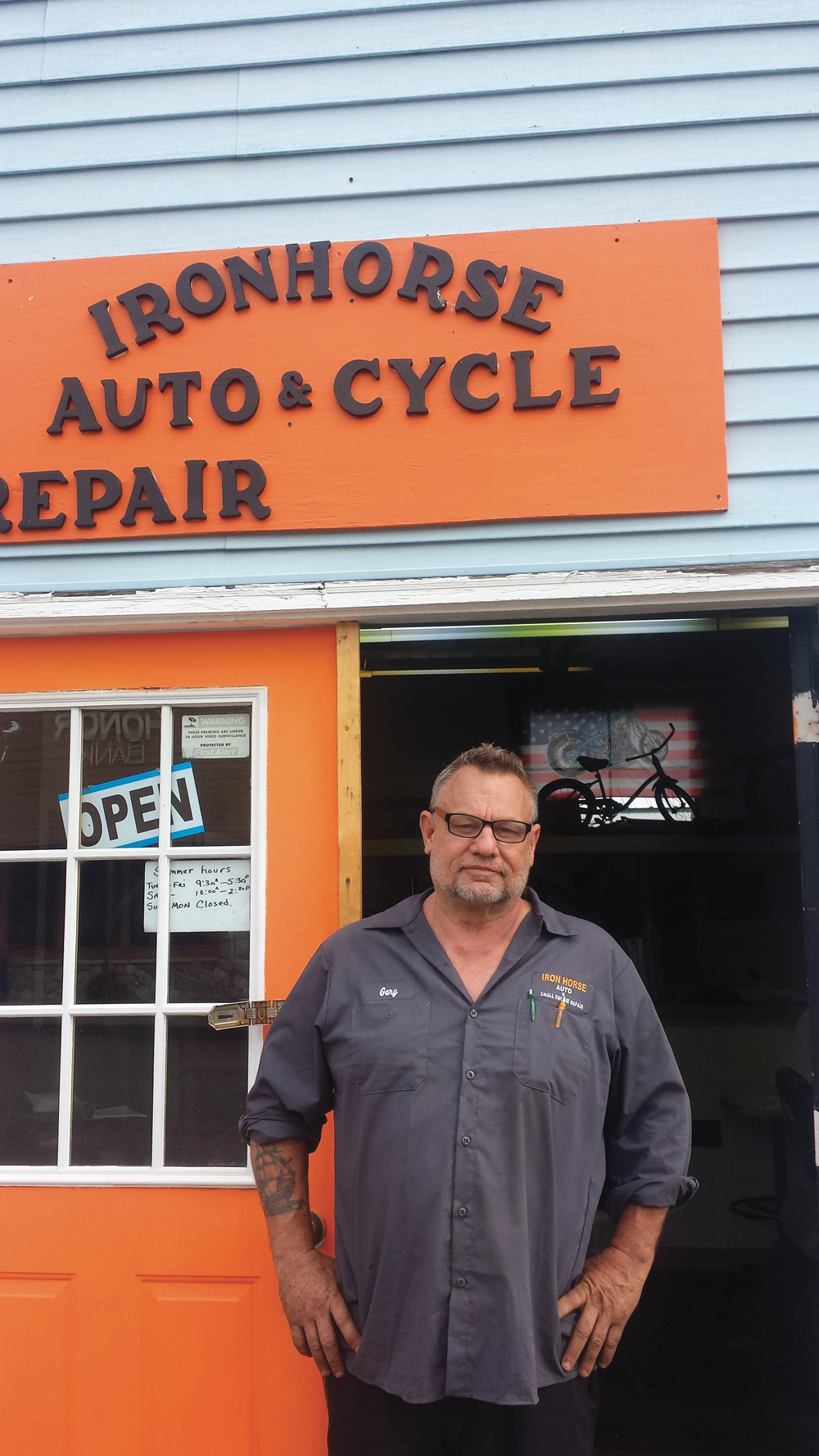 Gary Taylor Iron Horse Auto & Cycle Honor Betsie Current Newspaper