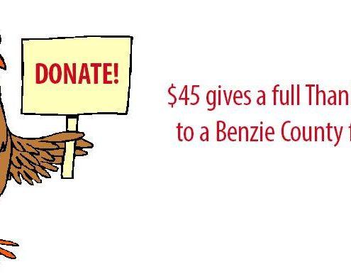 Melanie Herren-Fitzhugh Benzie County thanksgiving Community Spirit Food source turkey dinner benzie County food pantry The Betsie Current aubrey ann parker