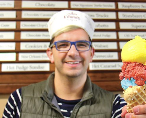 Cory Bissell candy man Kilwin's Frankfort Michigan ice cream store Aubrey Ann Parker Photography