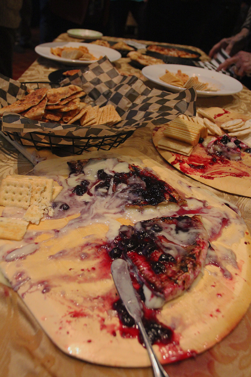 Stormcloud Brewing Company cheese platter local foods Frankfort Film Festival 2015 Garden Theater Frankfort MIchigan sponsor party