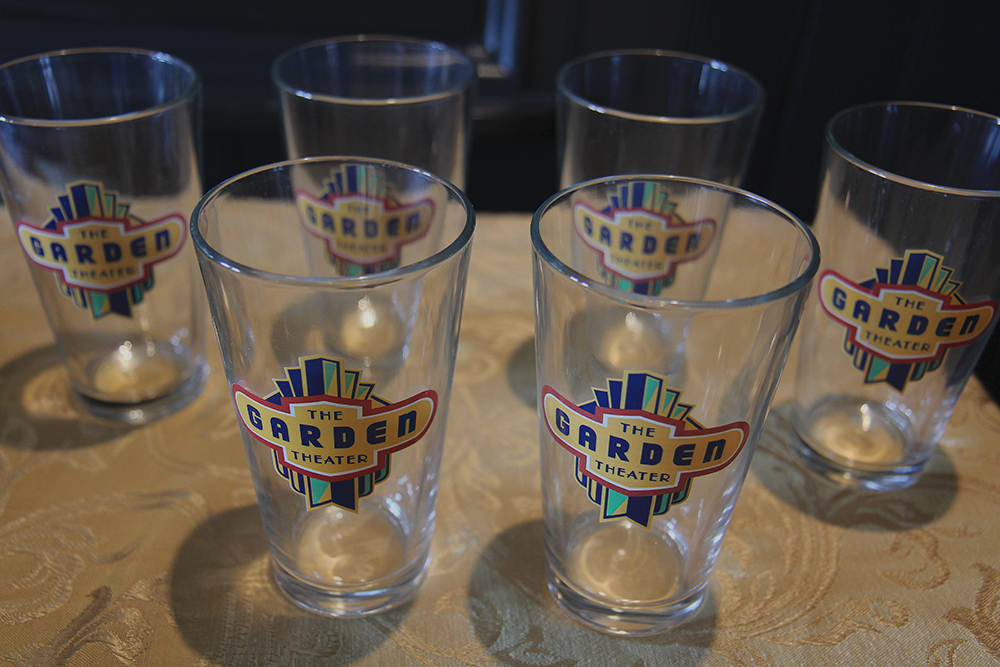 Garden Theater pint glasses Frankfort Michigan Frankfort Film Festival 2015