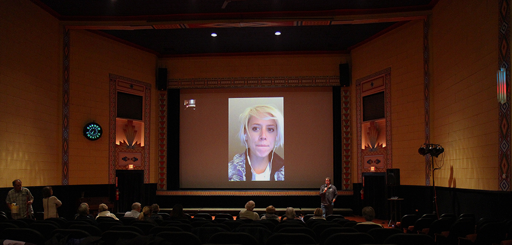 Mo Scarpelli movie director documentary filmmaker Frame by Frame Afghanistan photographers Frankfort Film Festival 2015 Skype Facetime Garden Theater Frankfort Michigan