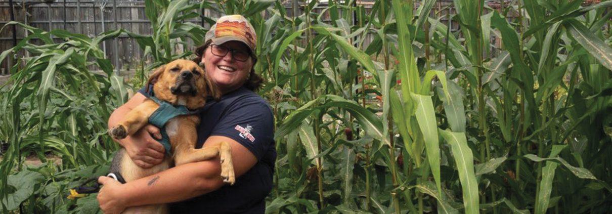 Farmer Carol Bontekoe Grow Benzie New Dawn Fields farm non-profit The Betsie Current Greta Bolger