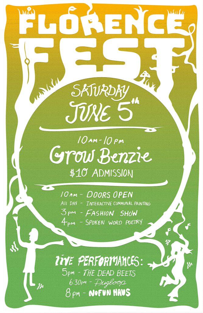 Florence Fest Grow Benzie June 5 2021 art event exhibit music nofun Haus Samuel tiesworth
