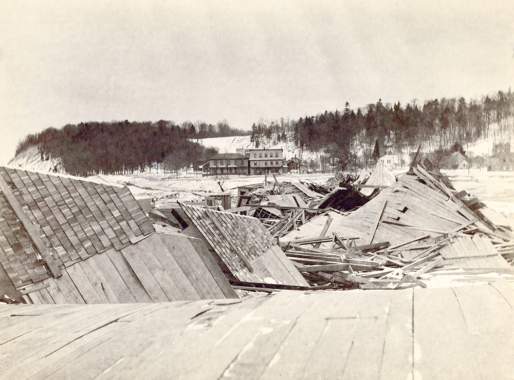 Royal Frontenac Hotel construction The Betsie Current Benzie County Michigan Frankfort Benzie Area Historical Society Jed Jaworski