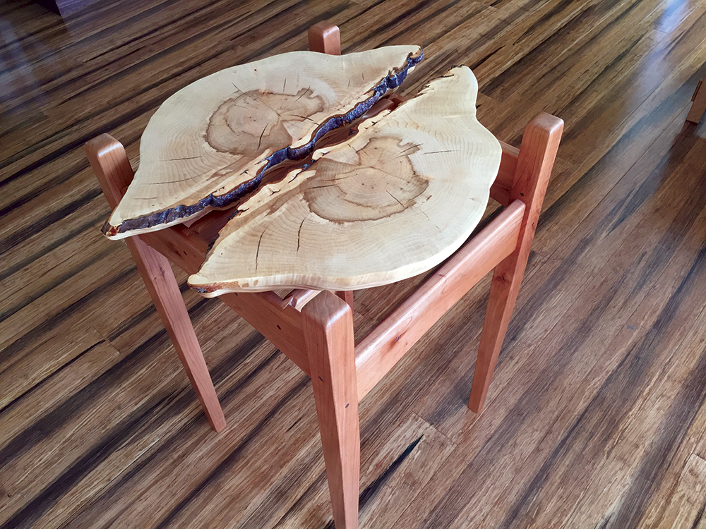 Always August Designs custom table Kurt Swanson Benzie County custom furniture maker