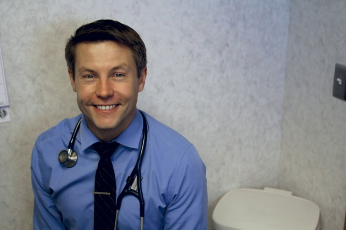 Dr. Jake Flynn at Crystal Lake Clinic. Photo by Aubrey Ann Parker.