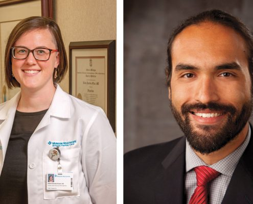 Dr. Katie Krezoski-Evans Dr. Cyrus Ghaemi Empire Family Clinic The Betsie Current newspaper Q&A question and answer
