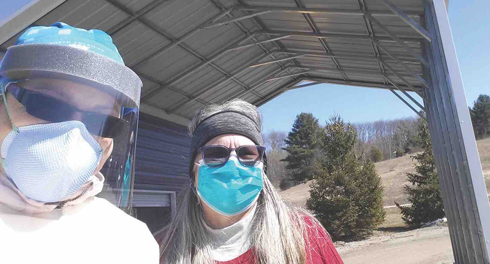 Mari Raphael: registered nurse for the family health clinic of the Grand Traverse Band of Ottawa and Chippewa Indians (GTB) COVID-19 pandemic The Betsie Current newspaper Northern Michigan