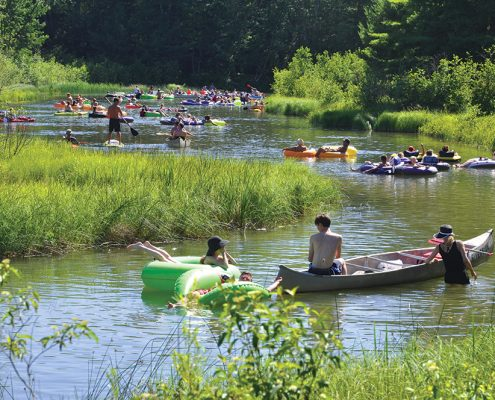 The Platte River will have seen a record number of visitors at the end of July, according to predictions. Photo courtesy of Joe Lachowski/Sleeping Bear Dunes National Lakeshore.