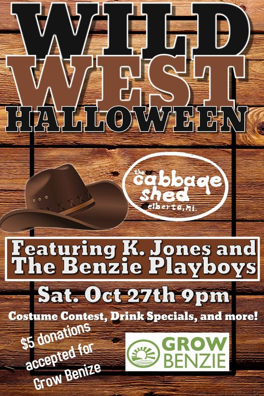 The Cabbage Shed Wild West costume party K Jones and the Benzie Playboys Halloween party