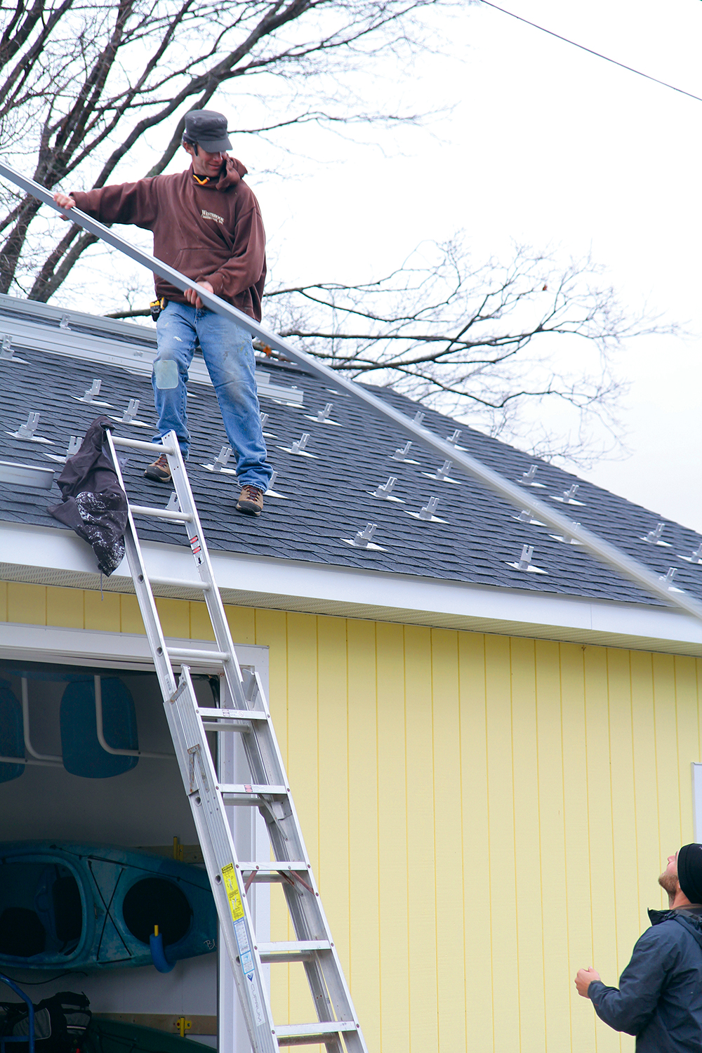 Frankfort Shines Benzie Shines Groundwork Shines Dave Gardner contractor Benzonia Frankfort solar panels Groundwork Center for Resilient Communities Jim Dulzo Aubrey Ann Parker Photography The Betsie Current