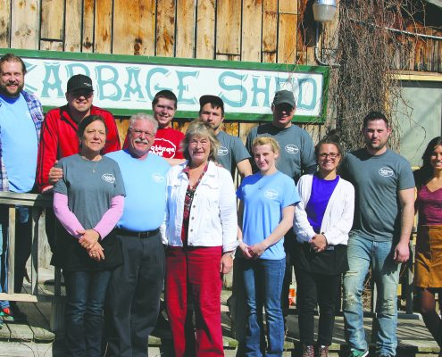 The Cabbage Sheds staff new owners Colleen and T.J. Hudson Tony Roethler Beth (Hudson) Roethler Ryan Zuker