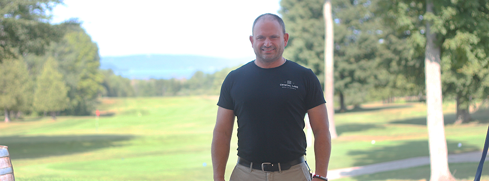 David Stapleton is the new general manager of Crystal Lake Golf, 160 acres of sprawling fairways overlooking Crystal Lake. Photo by Aubrey Ann Parker.