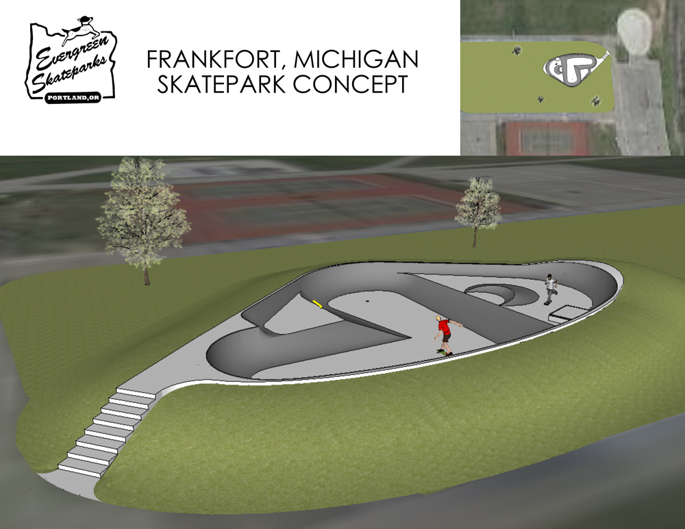 Frankfort Skatepark design. Image courtesy Jeff Hesler.