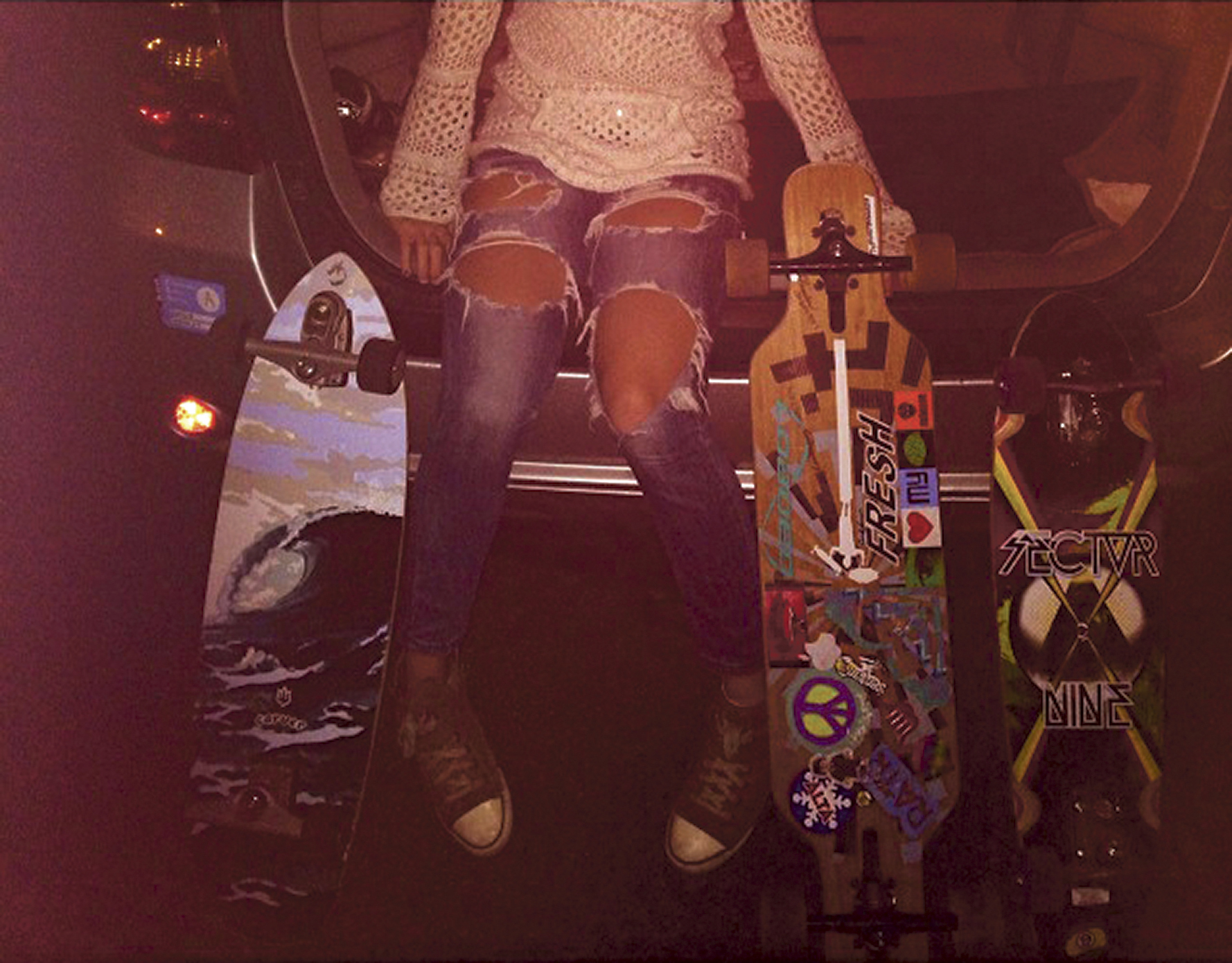 Longboards are popular with the millennial generation. Photo courtesy of Jeff Hessler.