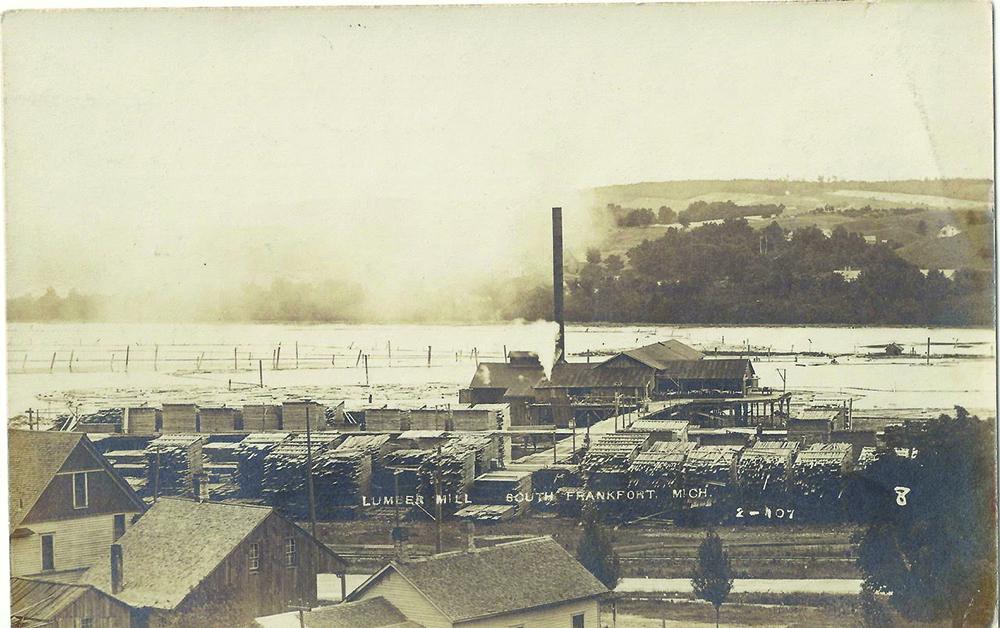 Elberta Michigan South Frankfort lumber mill sawmill Bob McCall Bayside Printing Inc Jed Jaworski The betsie Current newspaper Benzie County history